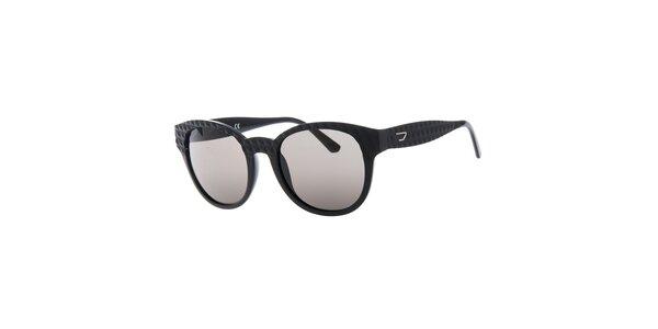 Dámské černé sluneční brýle s reliéfním povrchem Diesel