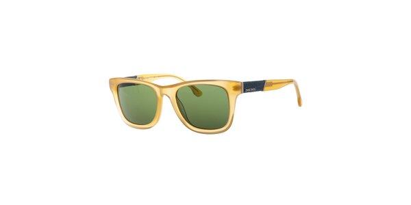 Dámské transparentní žluté sluneční brýle Diesel