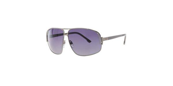 Pánské stříbrné sluneční brýle Diesel s gradientními skly