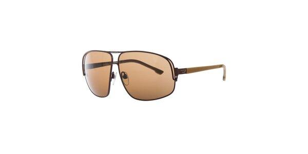 Pánské hnědé sluneční brýle Diesel