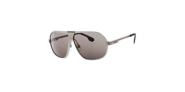 Pánské stříbrné sluneční brýle Diesel
