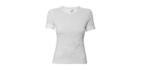 Dámské sportovní tričko Lotto v bílé barvě s potiskem