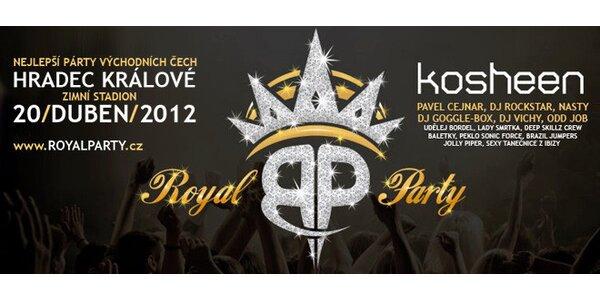 Vstupenka na Royal Party v HK. Kosheen, DJ Vichy a další