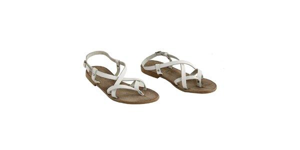 Dámské bílé páskové sandálky La Bellatrix