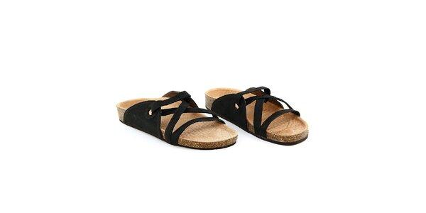 Dámské černé semišové pantofle La Bellatrix