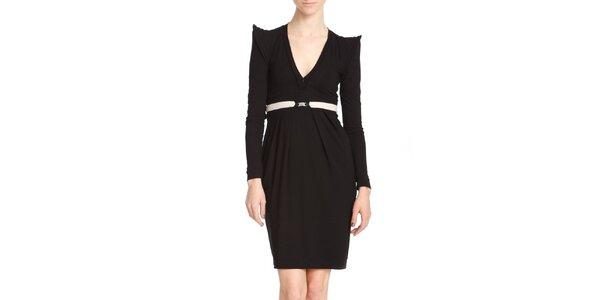 Dámské černé šaty s křidýlky Yuliya Babich