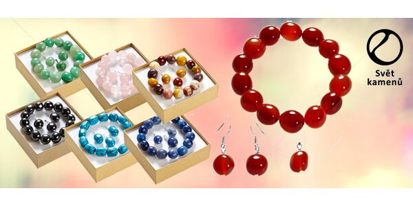 Sada šperků z polodrahokamů v dárkovém balení