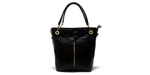 Dámská černá kabelka se zipem Luisa Vannini
