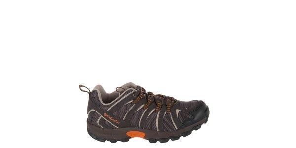 Dětské nízké tmavě hnědé trekové boty Columbia