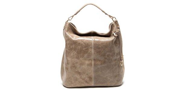 Dámská béžová kabelka s jedním uchem Luisa Vannini