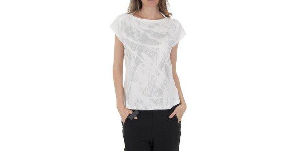 Dámské bílé tričko Columbia s šedivým potiskem