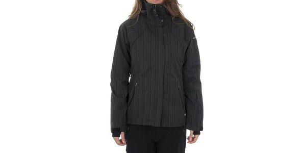 Dámská tmavě šedá zimní bunda Columbia s proužky s membránou