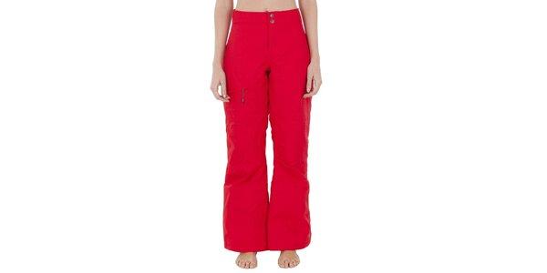 Dámské červené lyžařské kalhoty Columbia s membránou