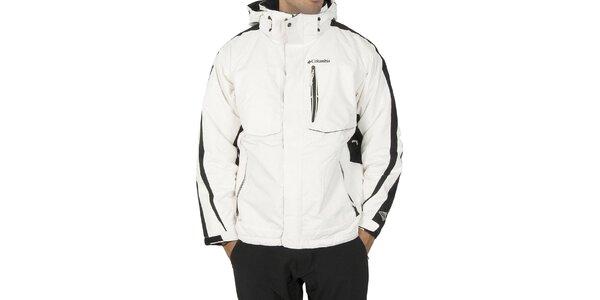 Pánská bílá sportovní bunda Columbia s černými detaily a membránou