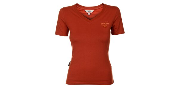 Dámské cihlově červené tričko Bushman s potiskem