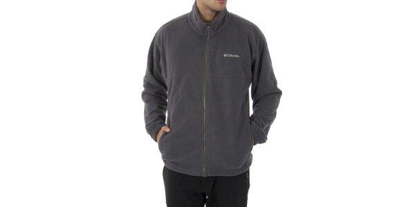 Pánská tmavě šedá fleecová mikina Columbia