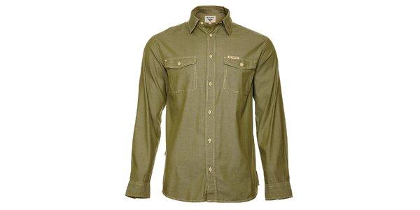 Pánská světle olivová košile Bushman