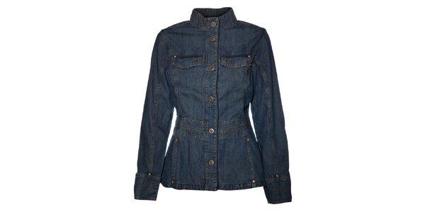 Dámský tmavě modrý džínový kabátek Bushman
