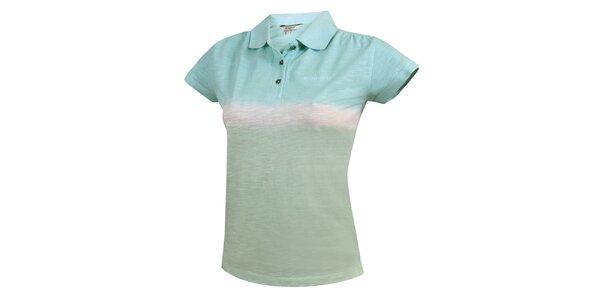 Dámské duhové polo tričko v modrých tónech Bushman