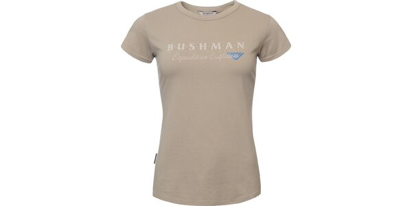 Dámské béžové tričko s nápisem na hrudi Bushman