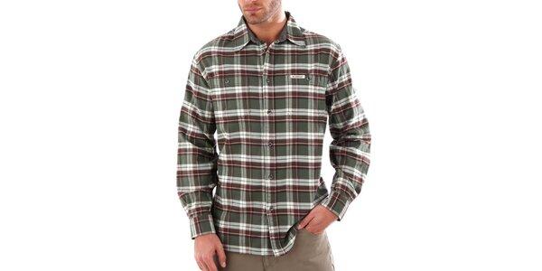 Pánská khaki károvaná košile Bushman