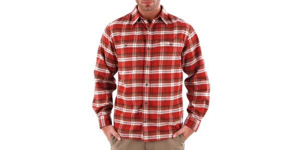 Pánská oranžová károvaná košile Bushman