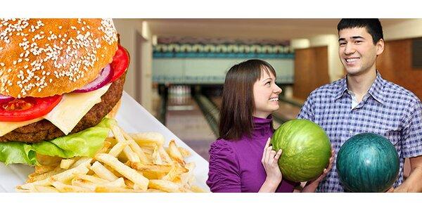 Dva vynikající hovězí burgery a hodina bowlingu