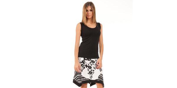 Dámská černo-bílá sukně Conquista s potiskem