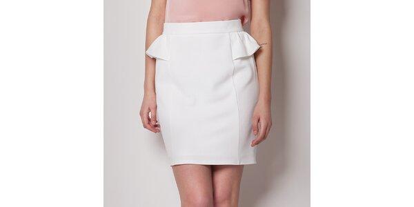 Dámská bílá pouzdrová sukně Figl s kanýrkem