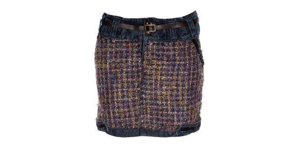 Dámská džínová sukně s nášivkou Desigual