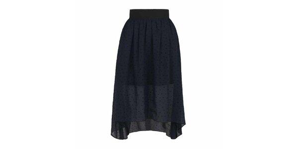 Dámská tmavě modrá sukně se srdíčky Yumi