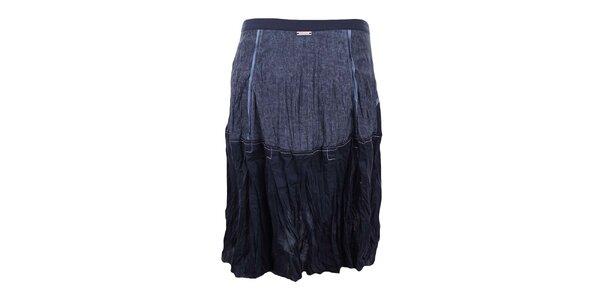 Dámská modrá sukně se zipovým zapínáním na přední straně Dislay DY Design