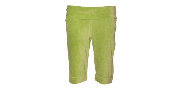 Dámské světle zelené plyšové šortky Liu.Jo