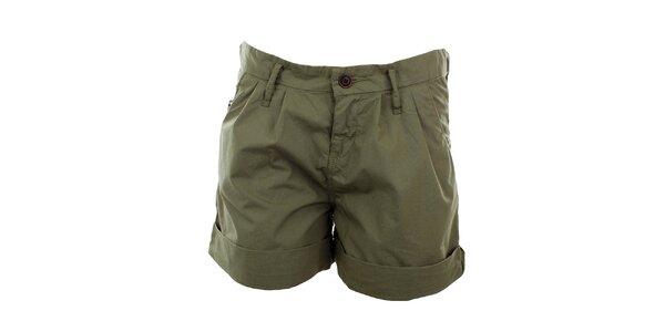 Dámské tmavě zelené šortky Tommy Hilfiger