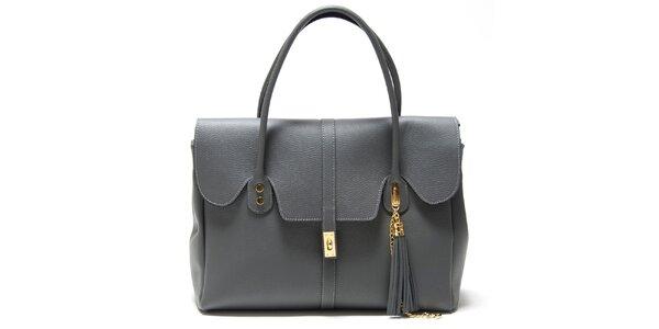 Dámská šedá kabelka s ozdobným střapcem Isabella Rhea