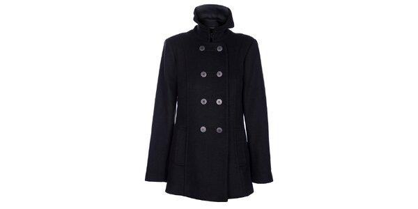 Dámský černozelený zimní kabát Pietro Filipi