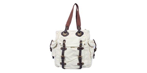 Dámská bílá bavlněná taška Timeout (UNI)