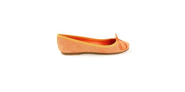 Dámské oranžové textilní balerínky Ponte Vecchio