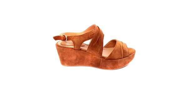 Dámské karamelové sandálky s platformou Bagatt