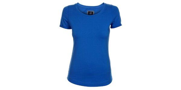 Dámské azurově modré tričko Pietro Filipi s krátkým rukávem