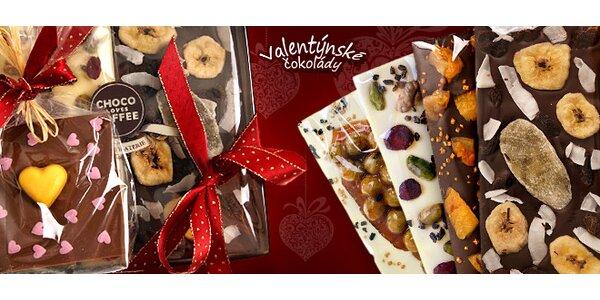 3 ručně vyráběné čokolády ve Valentýnském balíčku