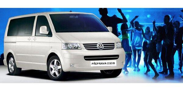 Odvoz až osmi osob v Party Taxi a Drink&Drive