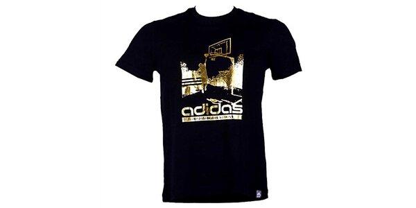 Pánské černo-zlaté tričko Adidas