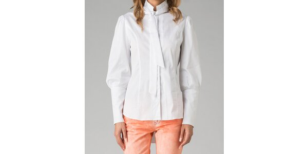 Bílá dámská košile s mašlí Twist