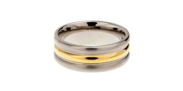 Dámský titanový prsten Danish Design se zlatým detailem