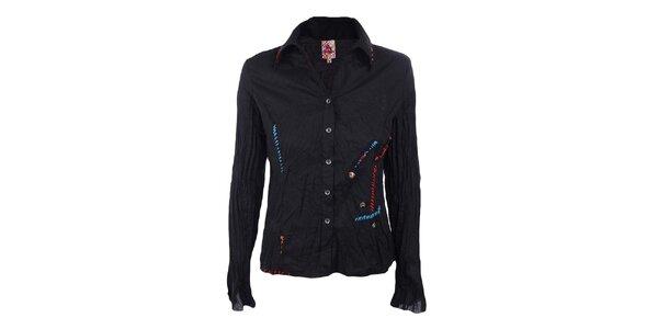 Dámská černá mačkaná košile Dislay DY Design