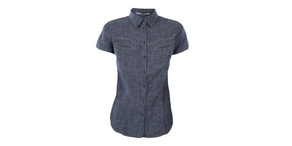 Dámská žíhaná džínová košile Gas