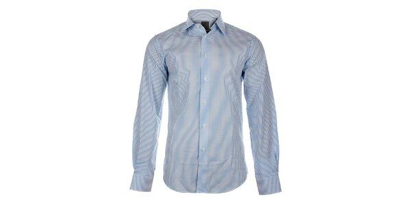 Pánská bílá košile Calvin Klein se světle modrým proužkem