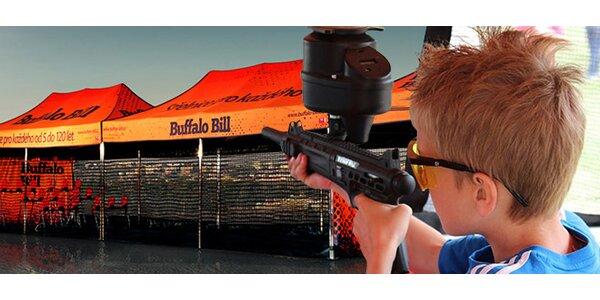 Střelba gumovými kuličkami na střelnici Buffalo Bill
