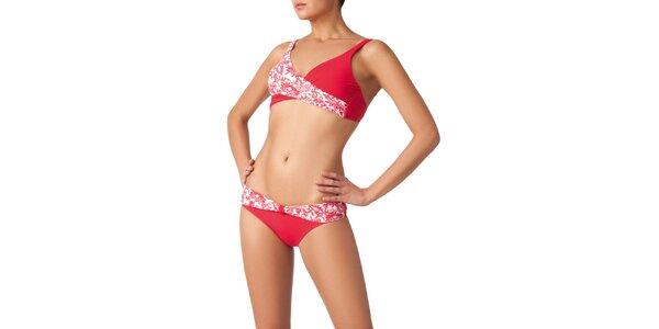 Dámské červeno-bílé bikini Charmante